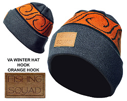 Шапка Winter Hat Cuff Fishing squad  - orange hook