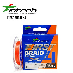Шнур плетеный Intech First Braid X4 150m (0.8 (12lb/5.45kg))